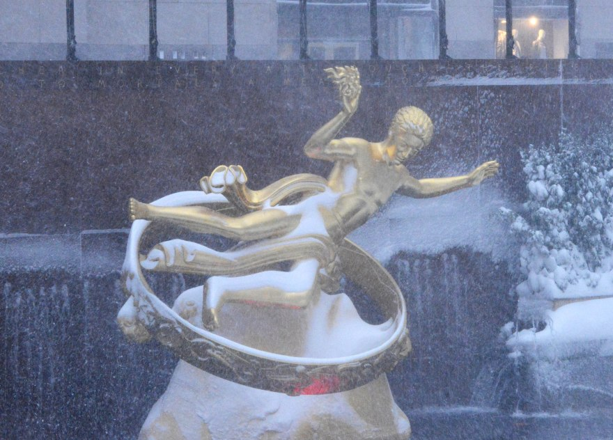 Prometheus in a snow storm